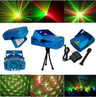 Wholesale Fashion V MW Mini Green amp Red Disco DJ Xmas Paty Stage Light Lighting Partterns Projector Tripod Laser Projector