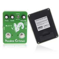 Wholesale Electronic New JOYO JF Voodoo Octave Fuzz Effect Guitar Guitarra Parts Effect Pedal True Bypass for Musical Instrument I277