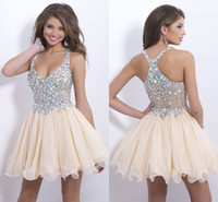 Cheap Reference Images Bling Homecoming Dresses Best Chiffon Spaghetti Straps Cheap Cocktail Dress