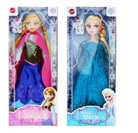 Wholesale 2014 Hot Sale Frozen Figure Play Princess Anna Elsa Classic Toy Frozen Toys Dolls With Retail Box