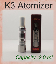 K3 Atomizer Clearomizer Glass Tank Dry Herb Vaporizer For EGO-T EGO-C EGO-W EGO-Twist Battery E Cigarette With Metal Drip Tips ATB007