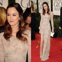 Reference Images gossip girl - 2014 Gossip Girl Blair Leighton Meester Celebrity Red Carpet Dresses With Long Sleeves Slit High Side Formal Evening Gowns Prom Dress BO5668