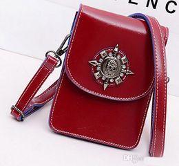 New product Women's Handbag Purses PU Leather bag Shoulder Bags Skull Girls bag red