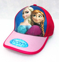 Wholesale fashion cartoon Frozen princess lovely child hats baby baseball cap baby hats kids pretty Anna Elsa sun caps snapback hats polo hats