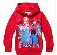 Wholesale New Arrival Hot Children s Wear Sweater Snow quot Frozen Girl Hoodies Children Sweater Hoodie L30743