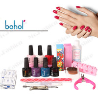 Wholesale 5 in Colors Nail Gel Shellac Gel Polish Manicure Kit Set tools nail polish nail art decorations U202 New