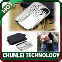 Wholesale New Portable Handwarmer Platinum Pocket Handy Hand Warmer Black Holster Pouch Bag