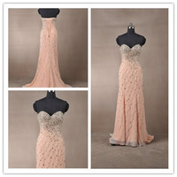 Reference Images Sweetheart Chiffon 2014 Brilliant chiffon Beading Sequin Sweetheart Sheath Prom Dress Empire waistline Party dress Floor-Lenght Custom Made A020