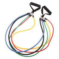 Wholesale 11Pcs in Set Fitness Resistance Bands Exercise Tubes Practical Elastic Training Rope Yoga Pull Rope Pilates Workout Cordages