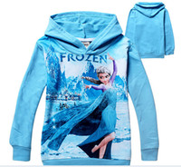 Wholesale 6pcs New Arrival Hot Children s Wear Sweater Snow quot Frozen Girl Hoodies Children Sweater Hoodie L30744