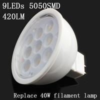 Wholesale Free shippiing SMD5050 led spotlight W MR16 Led lamp Light DC volt Warm white pure white