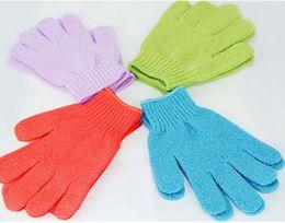 Wholesale Cloth Mitt Exfoliating Face or Body Bath Scrubbers Moisturizing gloves Sponges Glove