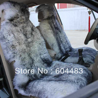 Wholesale 2pcs Sheepskin Car Seat Cover White black