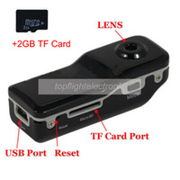 Wholesale spy Mini DV Sports MINI DV DVR Video Recorder Hidden Camera MD80 Camcorder GB TF Card