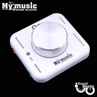 Wholesale 5 amp Dual Channel For PC Laptap Desktop My Music Hi Fi Sound Blaster USB External Audio Card