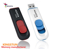 Wholesale ADATA GB GB GB C008 Superior Capless Sliding C008 USB Retractable Flash Drive Classic Series Pen Memory FREE DHL