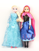 Wholesale 2014 hot sell princess Frozen dolls toddler toys action figures frozen Elsa Anna baby toys FREE EMS