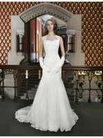 Wholesale 2014 Elegent A Line Bridal Gowns White Sweetheart Cap Sleeve Chapel Train Appliques Satin Zipper New Garden Dresses Gloves Headwear