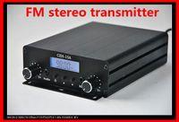 fm radio broadcast transmitter - CZH A W stereo PLL FM transmitter broadcast radio station