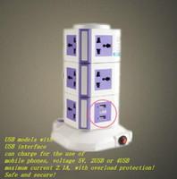 Wholesale power socket inserted row of vertical patch panel USB socket creative multi plug wire board flapper drag strip