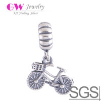 Wholesale Bicycle silver beads made of sterling silver fit European bracelets No LW360