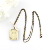 bible design - Vintage Jewelry Fashion Design Bible Unfolded Book Alloy Pendant Necklace For Women
