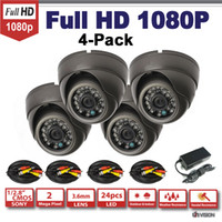Cheap HD-SDI Cameras 4-Pack, 2.1 Mega Pixel Sony 1080P HD SDI Surveillance Camera,3.6mm IR Vision dome Security camera