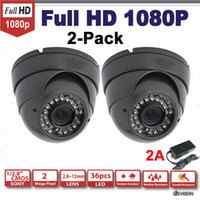 UV-SDI3222-2 Still Camera Dome camera HD-SDI Cameras 2-Pack, 2.1 Mega Pixel Sony 1080P HD SDI Surveillance Camera,2.8~12mm IR Vision dome Security camera
