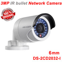 Indoor Infrared CMOS 100% Original Hikvision DS-2CD2032-I 1080P 3 Megapixel IR bullet network Camera POE IP camera 6mm