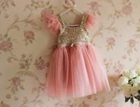 Cheap TuTu girls dress Best Summer A-Line Sequins