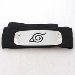 Wholesale Naruto Konohanourakakurenomura Ninja Headband Tenia Cosplay Props Black Color