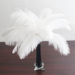 wholesale 100pcs lot 12-14inch White Ostrich Feather for Wedding centerpiece Ostrich feather centerpiece wedding decor home decor