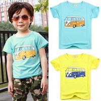 Boy Summer Standard NEW 2014 Children Clothes T Shirts Short-Sleeved Baby Kids Boys T-Shirts Cartoon Car T-Shirt Girls Summer Wear Kids T Shirt 3-7 Year SF05-16