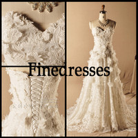 Model Pictures Sweep Train Organza Real Picture Organza Sweetheart Applique Wedding Dress Bridal Gown