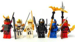 Wholesale cole sensei wu Ninja Legos zane samurai jay kai Building Blocks Sets Ninja With Weapons minifigures building blocks sets toys no box