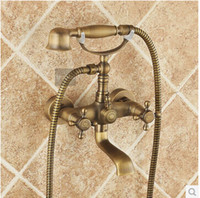 Wholesale Antique copper bathtub faucet shower faucet bathroom faucet hot and cold mixing valve all the top brass craft