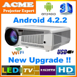 Wholesale Free inch screen Full HD WIFI LED LCD Home Theater Projector lumens High Brightness For Daytime Use With Perfect Display Effect