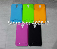 For Samsung Plastic Case Plastic Credit Card Holder Back Cover Case for Samsung Galaxy S4 i9500 10pcs lot Free Shipping