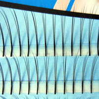 Wholesale 1Set Box Flase Long Individual eyelash mm mm mm extension curl eye lashes natural With Retail box
