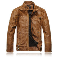 Jackets leather clothes - 2013 new fashion brand motorcycle genuine leather clothing men s leather jacket