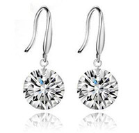 Wholesale Top Quality Classic Perfect Silver Earrings Princess Consort Wedding Steric Crystal Earrings SK018