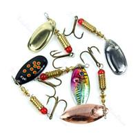 Wholesale 10pcs g Fishing Dish Lures Treble Hook Spinner Paillette Bait