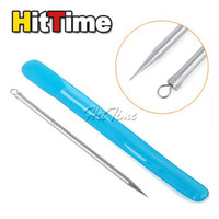 Wholesale 20Pcs Stainless Steel Blackhead Pimples Acne Needle remover Tool