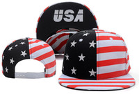 Red baseball cap pictures - 2016 new black red USA american flag picture adjustable baseball snapback hats and caps for men women sports hip hop sun cap