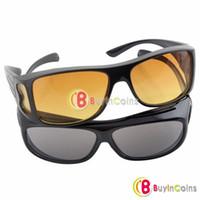 achat en gros de lunettes de soleil hd wrap-Lunettes De Soleil Conduite HD Vision Wrap Around Glasses Unisexe # 6051