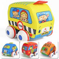 2-4 Years Multicolor Plastics Fabric toy car cartoon sponge WARRIOR car police car fire truck school bus toy set