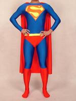 Venta al por mayor S-XXL personalizado Body Lycra Spandex traje zentai Traje de Superman partido