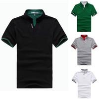 Men Cotton Polo New arrival Men t shirt Men's Fashion Short Sleeve POLO Tee T Shirts, M,L,XL,XXL Good Quality Drop Shipping