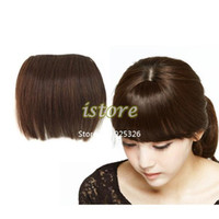Wholesale New Hot Human Hair Pieces Clip in on Full Bangs Extensions Front Brazilian Remy Bang Hairpieces Dropshipping