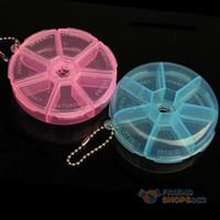 Pill Cases & Splitters 7.80*7.80*2.00cm  #F9s Portable Organizer Pill Round Box 7 Slot Health Pill Box Case Medicine Drug